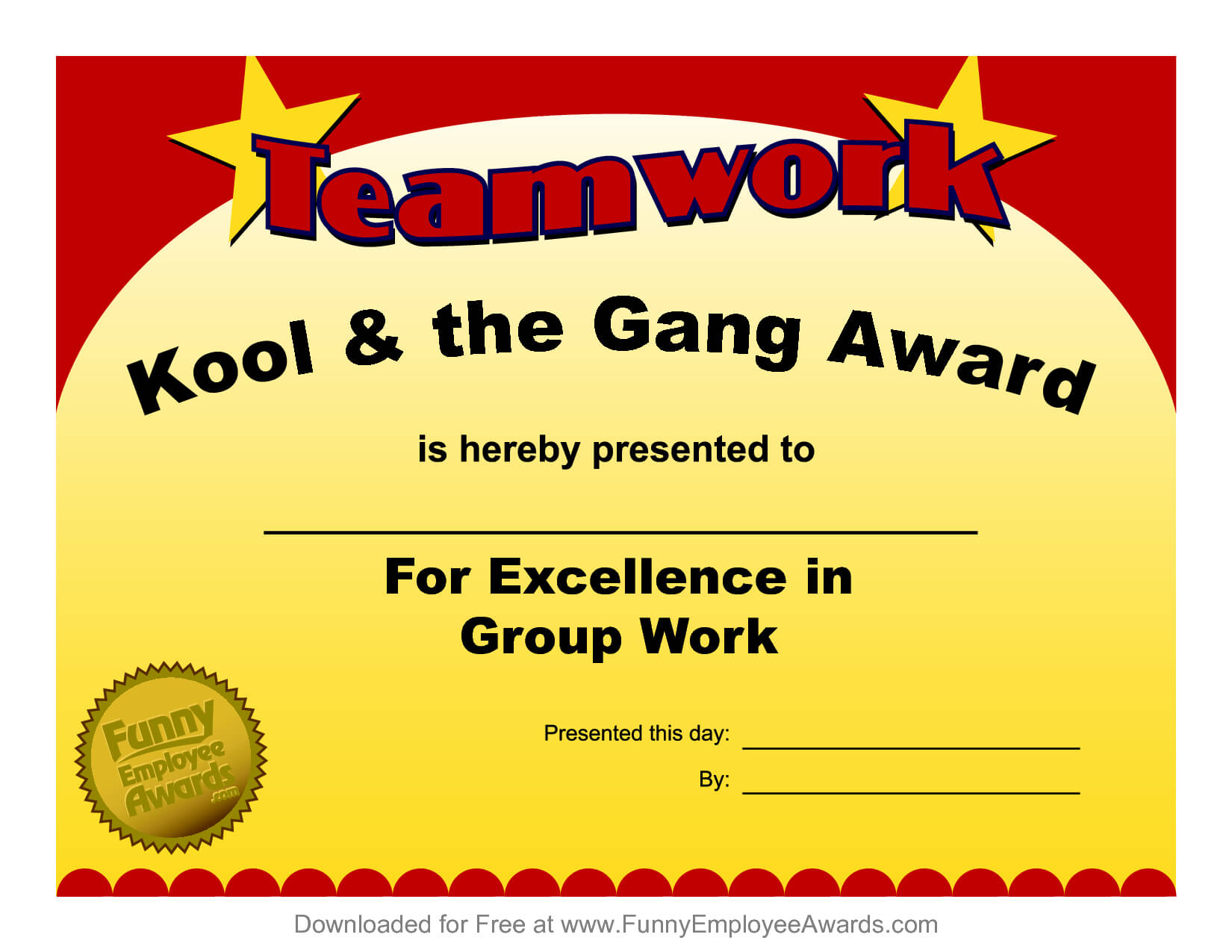 Fun Award Templatefree Employee Award Certificate Templates With Funny Certificates For Employees Templates