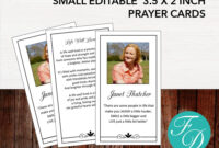 Funeral Prayer Card | Memorial Ideas | Funeral Ideas for Prayer Card Template For Word