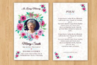 Funeral Prayer Card Template | Editable Ms Word & Photoshop with Prayer Card Template For Word