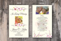 Funeral Prayer Card Template, Memorial Prayer Card Template regarding Prayer Card Template For Word