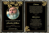 Funeral Program Template | 5X7 Funeral Card Template within Memorial Card Template Word