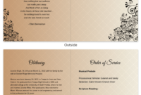 Funeral Program Template Throughout Memorial Brochure Template