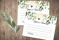 Funeral Share A Memory Card | Printable Funeral Memory Card pertaining to In Memory Cards Templates