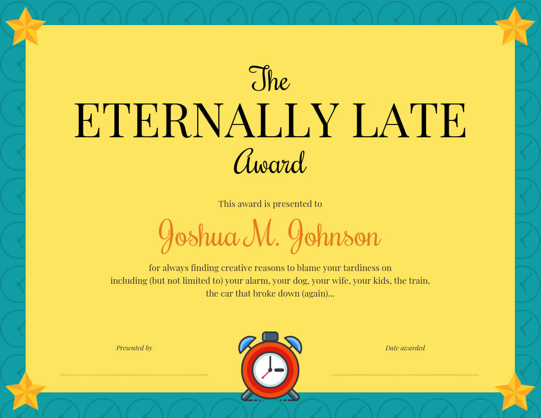 Funny Certificate Template Pertaining To Funny Certificate Templates