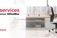Furniture Services with Office Depot Business Card Template