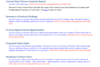 Future State Process Report Template regarding Project Analysis Report Template