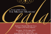 Gala Invitations Template | Gala Invitation, Event with Event Invitation Card Template