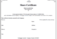 Generating Share Certificates On Capdesk within Certificate Of Ownership Template