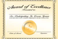 Generic Award Certificate In Vector Format – Trashedgraphics regarding Generic Certificate Template