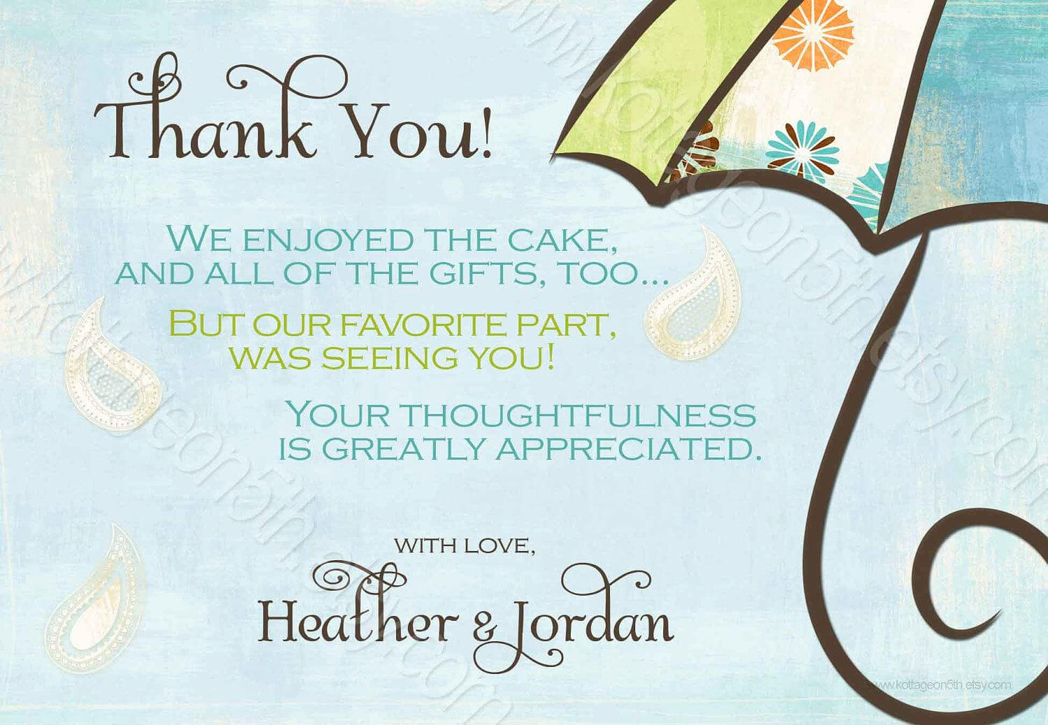 Generic Baby Shower Thank You Wording - Yahoo Image Search Pertaining To Template For Baby Shower Thank You Cards