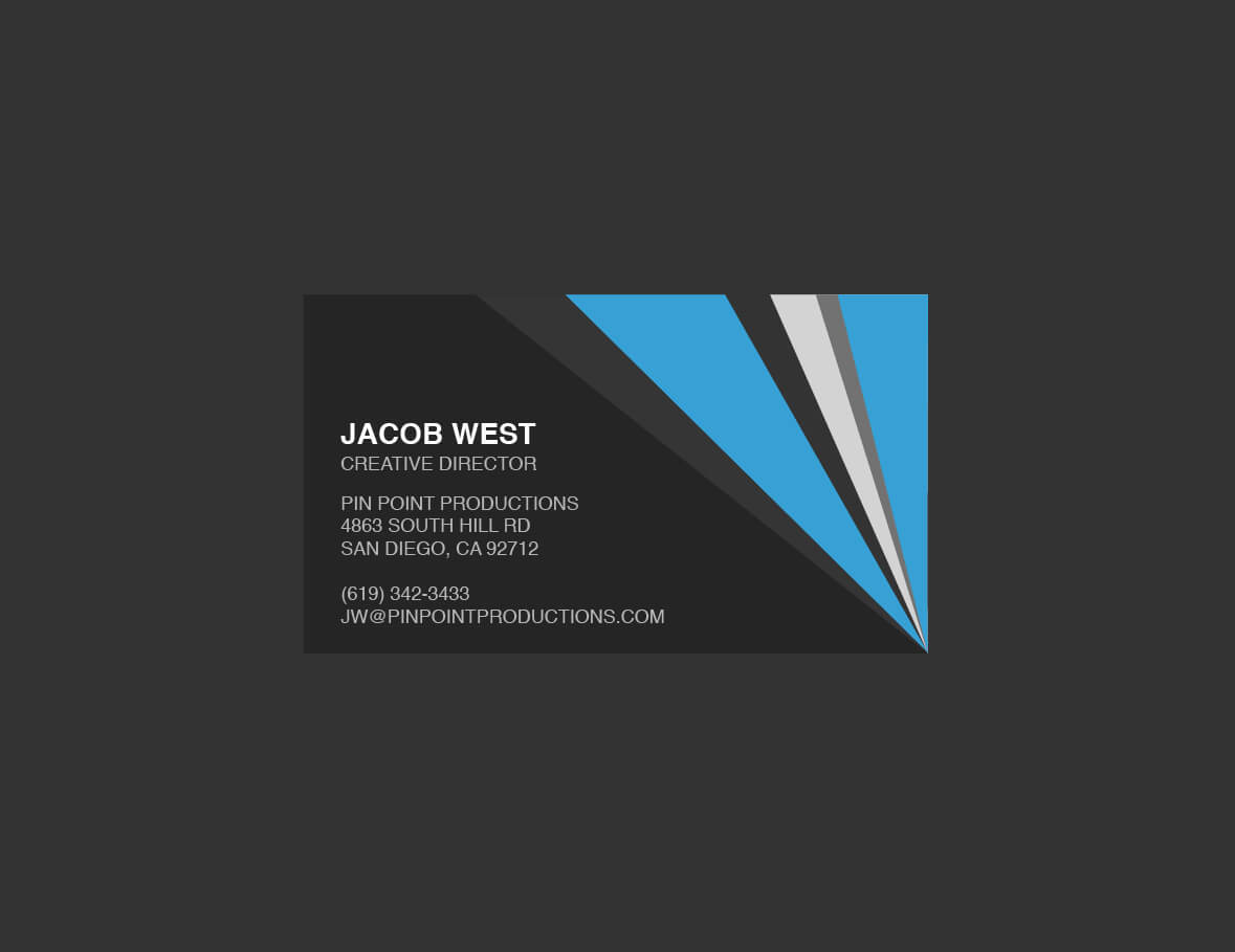 Generic Business Card Template ] - Elegant Classy Blue Pertaining To Generic Business Card Template