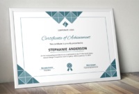 Geometric Shapes Modern Word Event Certificate Template intended for Word 2013 Certificate Template