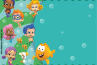Get Free Printable Bubble Guppies Baby Shower Invitation with Bubble Guppies Birthday Banner Template
