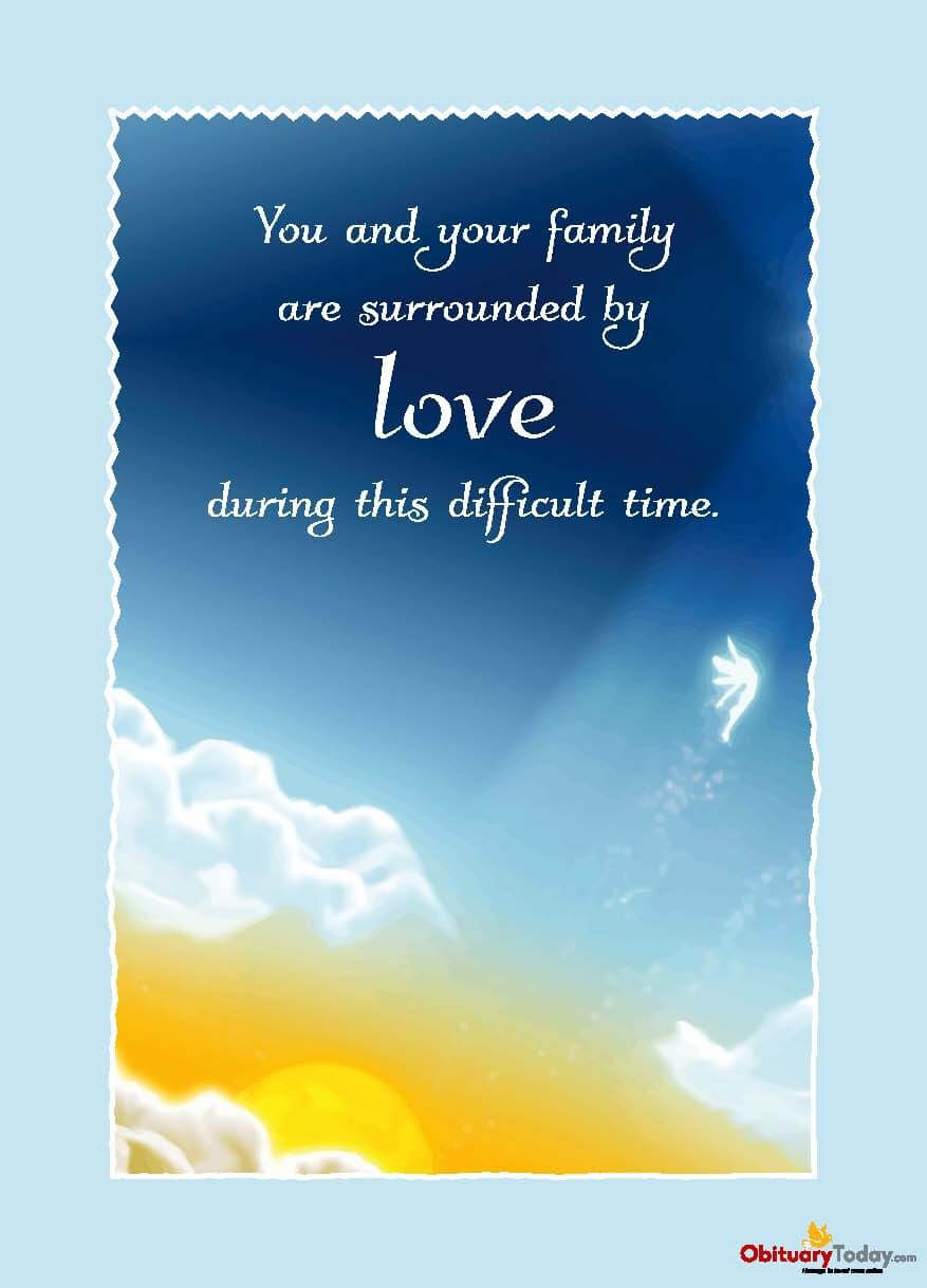 Get Inspirational Sympathy & Condolences Cards Free Online Intended For Death Anniversary Cards Templates