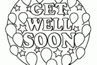 Get Well Soon Card Coloring Pages with Get Well Soon Card Template