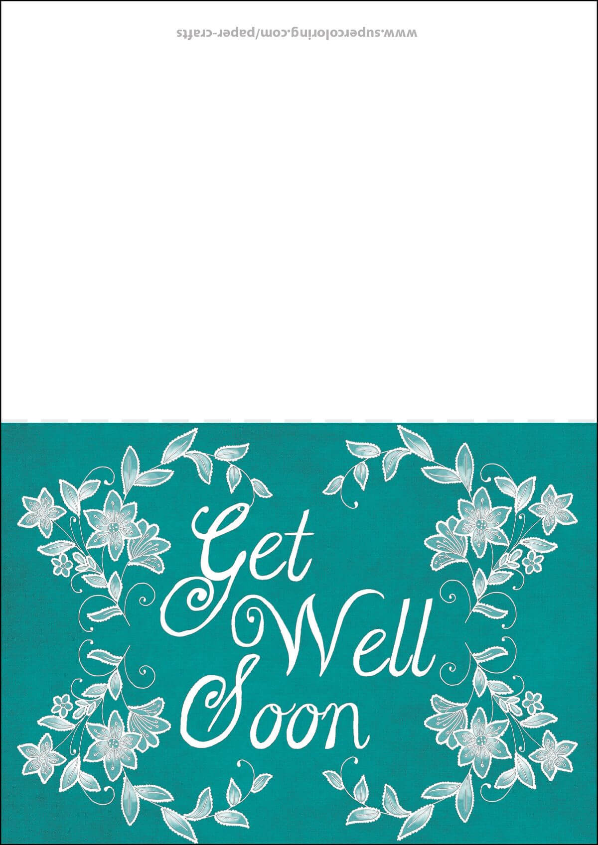 Get Well Soon Card Template | Free Printable Papercraft With Get Well Soon Card Template
