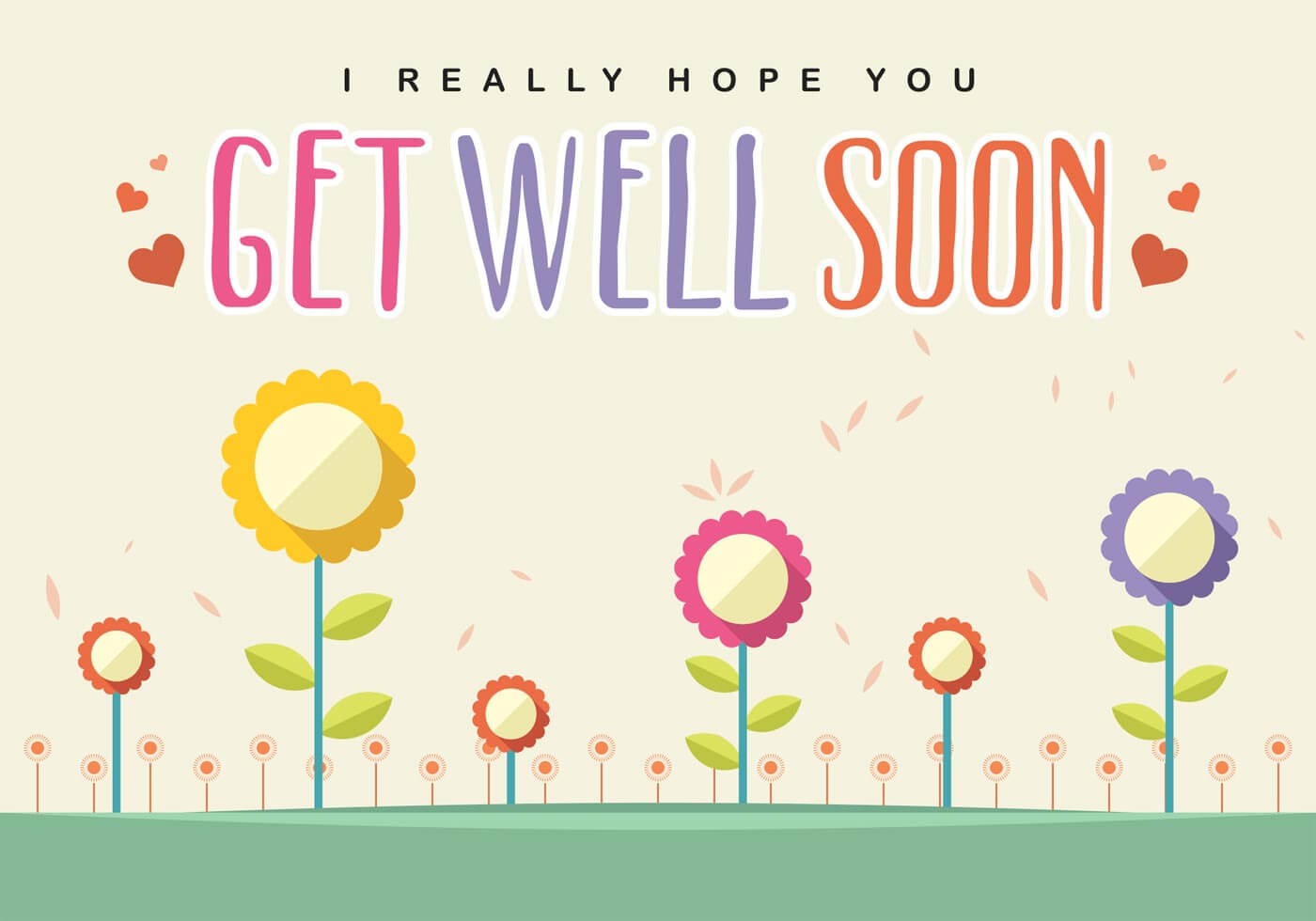 Get Well Soon Card Vector - Download Free Vectors, Clipart With Get Well Soon Card Template