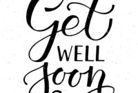 Get Well Soon Typography Cardalps View Art On regarding Get Well Card Template
