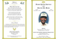 Gggggggggggggggg | Funeral Program Template Free, Program With Regard To Memorial Brochure Template