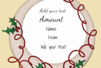 Gift Card Certificate Template Best Of Free Christmas Gift in Christmas Gift Certificate Template Free Download