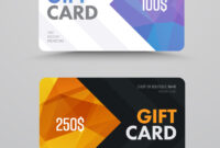Gift Card Design With Polygonal Abstract Elements within Credit Card Templates For Sale