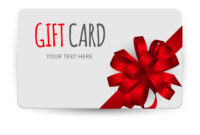 Gift Card Template With Bow And Ribbon Pertaining To Present Card Template