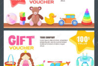 Gift Card, Voucher, Certificate Or Coupon Vector Design pertaining to Kids Gift Certificate Template