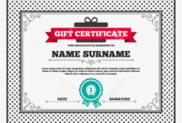 Gift Certificate. First Place Award Sign Icon. Prize For Winner.. for First Place Certificate Template