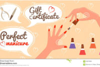 Gift Certificate Perfect Manicure Nail Salon Stock Vector Regarding Nail Gift Certificate Template Free
