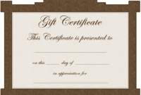Gift Certificate Template | Certificate Templates with regard to Graduation Gift Certificate Template Free