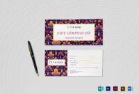 Gift Certificate Template for Gift Certificate Template Publisher