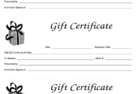Gift Certificate Template Free – Fill Online, Printable in Black And White Gift Certificate Template Free