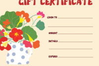 Gift Certificate Template Funny Design within Funny Certificate Templates