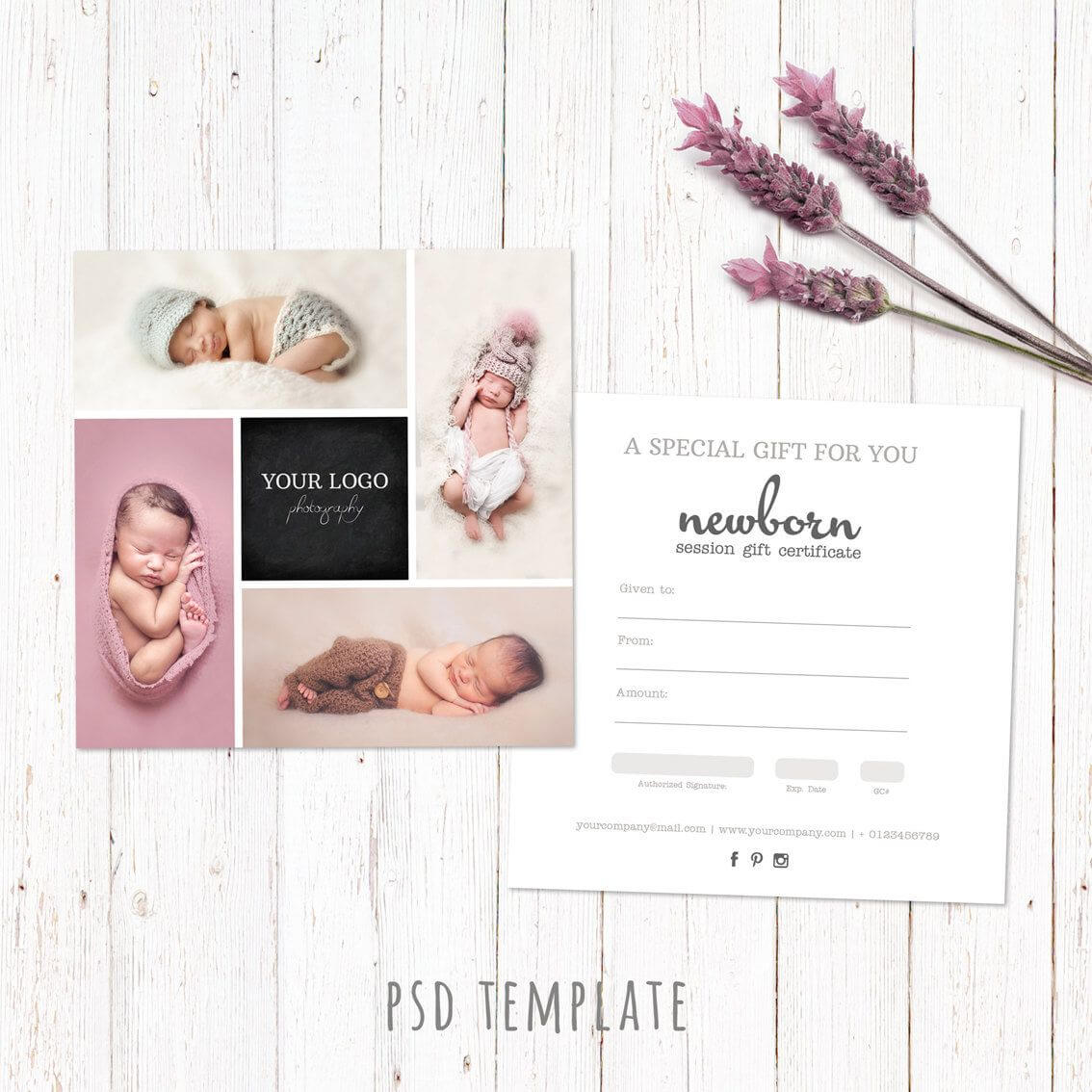 Gift Certificate Template. Newborn Session Photography Gift With Regard To Photoshoot Gift Certificate Template