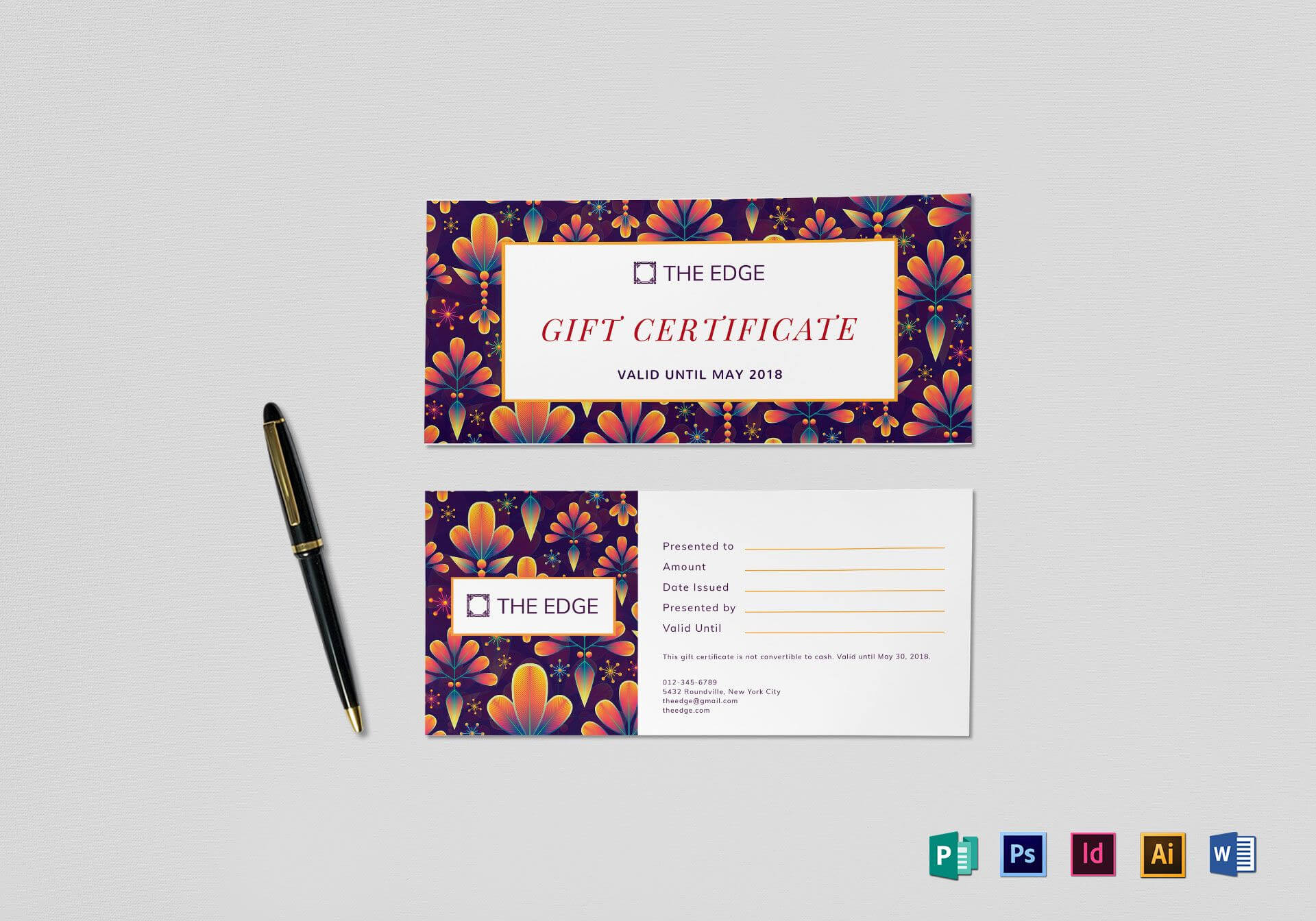 Gift Certificate Template Throughout Indesign Gift Certificate Template