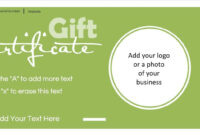 Gift Certificate Template With Logo pertaining to Company Gift Certificate Template