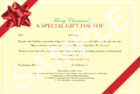 Gift Certificate Template Xmas | Pharmacy Technician Cover pertaining to Present Certificate Templates