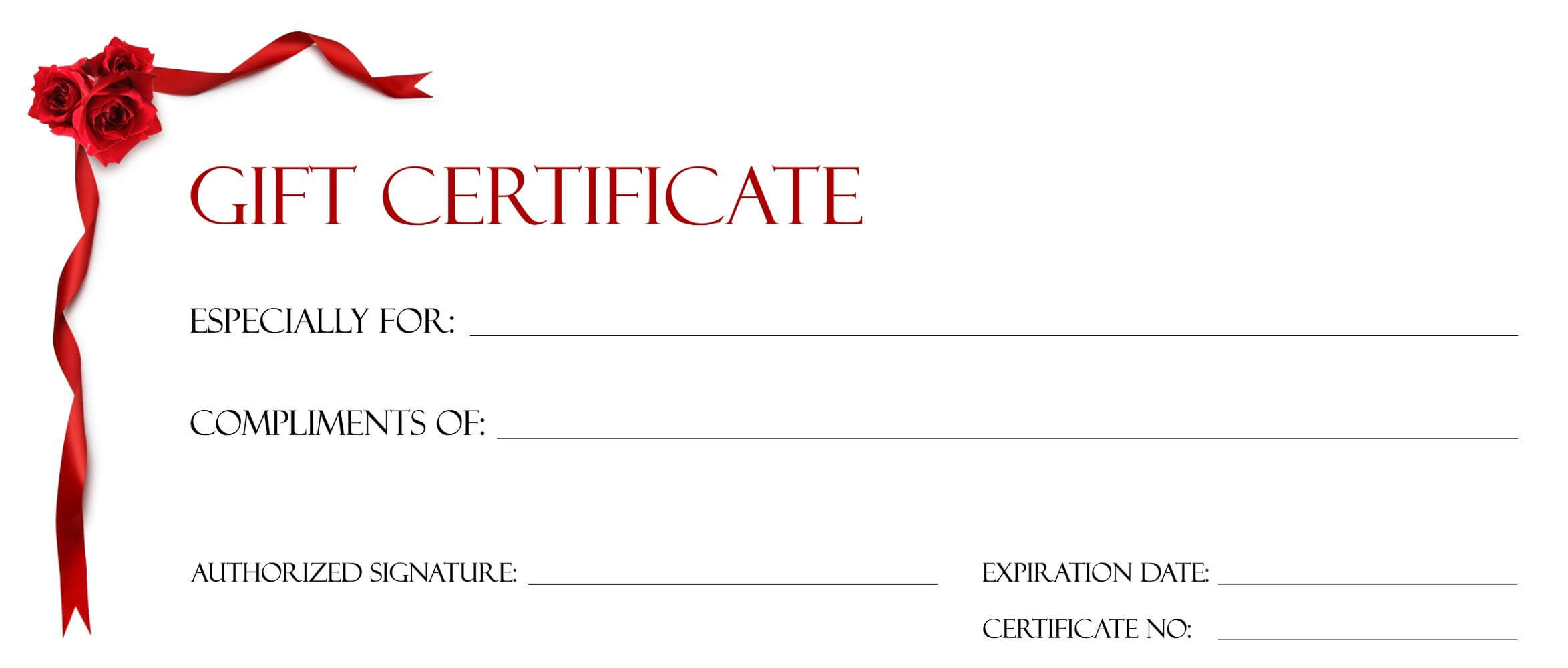 Gift Certificate Templates To Print | Gift Certificate Within Microsoft Gift Certificate Template Free Word