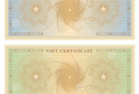 Gift Certificate (Voucher) Template With Borders Stock regarding This Certificate Entitles The Bearer To Template