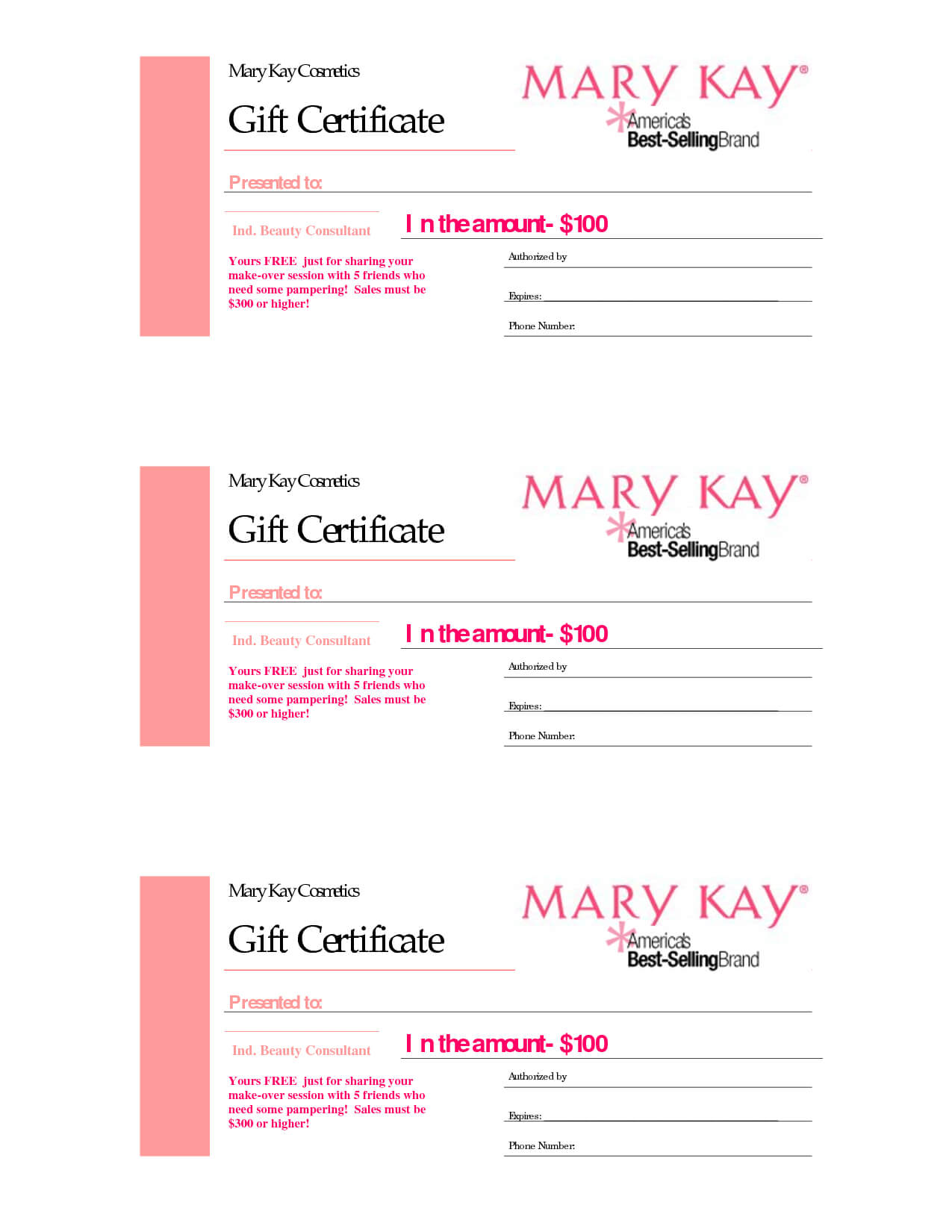 Gift Certificates | Mary Kay Gift Certificate! | Gift In Mary Kay Gift Certificate Template