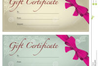 Gift Voucher Stock Illustration. Illustration Of Business pertaining to Free Photography Gift Certificate Template