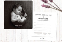 Gift Voucher Template. Gift Certificate Template with Photoshoot Gift Certificate Template