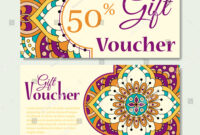 Gift Voucher Template Mandala Design Certificate Stock pertaining to Magazine Subscription Gift Certificate Template