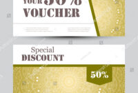Gift Voucher Template Mandala Design Certificate Stock with regard to Magazine Subscription Gift Certificate Template