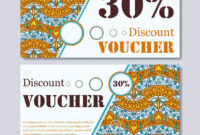 Gift Voucher Template With Mandala. Design Certificate For for Magazine Subscription Gift Certificate Template