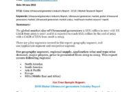 Global Ultrasound Generators Industry Report | Ultrasound for Carotid Ultrasound Report Template