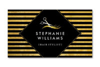 Gold And Black Hair Salon Business Card Template | Zazzle for Hair Salon Business Card Template