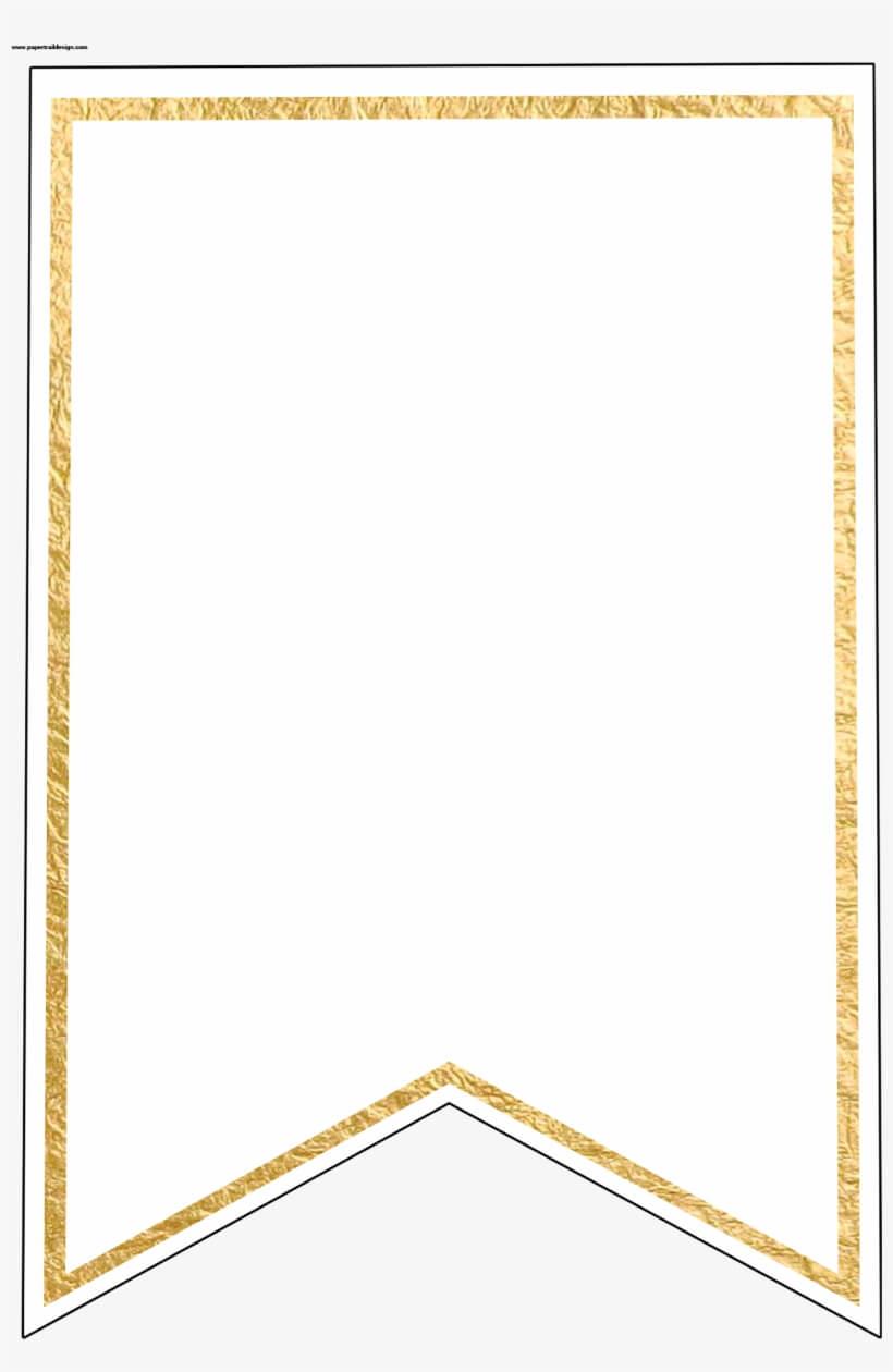 Gold Pennant Banner Blank Template Flag Banner Template In Printable Pennant Banner Template Free