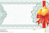Golden Christmas Gift Certificate Or Discount Stock Vector with Christmas Gift Certificate Template Free Download