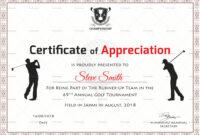 Golf Appreciation Certificate Template intended for Golf Certificate Templates For Word